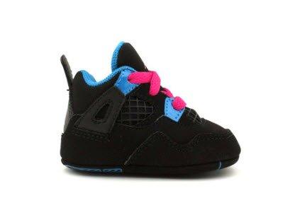 Air Jordan Crib 4 Retro (Gp) Black Pink Blue 487219-019 2c