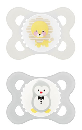 MAM Animals Silicone Pacifier, 2 Count, Unisex, 0-6 Months