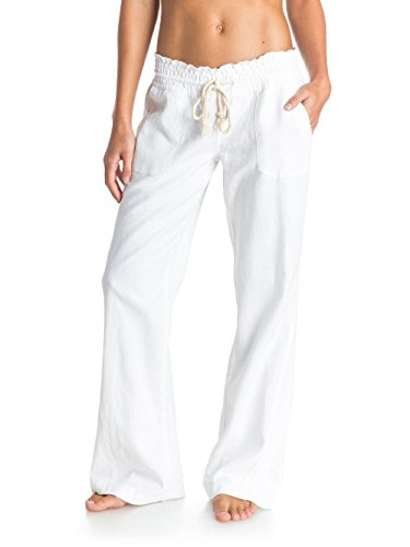 Roxy, Pantaloni Donna Oceanside, Bianco (Sea Salt), XL