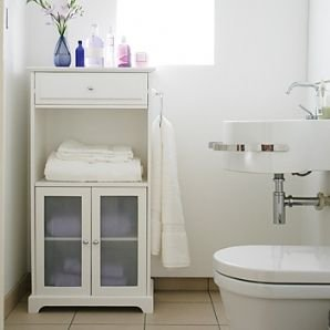 White bathroom cabinet storage normandy tall boy amazon for Bathroom cabinets tall boy