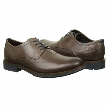Clarks Men's Garnet Walk Oxford,Charcoal Leather,8.5 M US