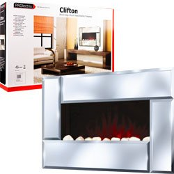 ProLectrix Clifton Electric Fireplace Heater with Remote
