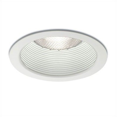 """4"""" Line Voltage Recessed Trim With Stepped Baffle Finish: White Baffle"""