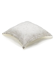 Pure Linen Floral & Leaf Print Cushion
