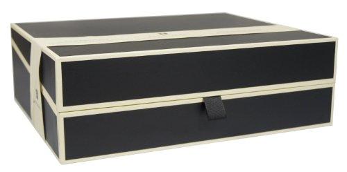 private dokumentenbox schwarz sammelbox aufbewahrungsbox semikolon qualit t. Black Bedroom Furniture Sets. Home Design Ideas