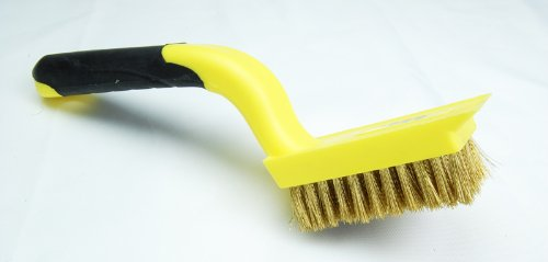 Best Review Of Brass Bristle Cleaning Brush with Comfort Grip handle