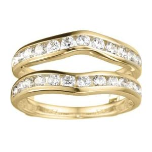 14k White Gold 5 Stone Diamond Hoop Earrings