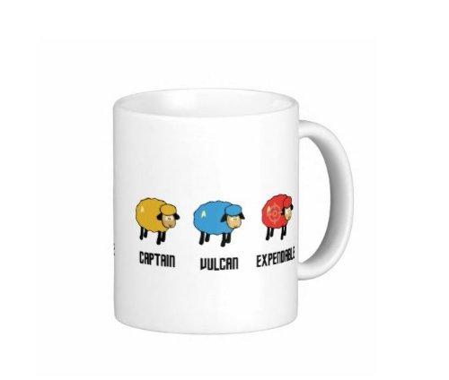 Pair Of Star Trek Sheep 15 Ounce Coffee Mugs - Custom Coffee / Tea Cups - Dishwasher And Microwave Safe