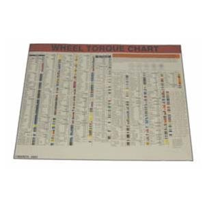 Lock Technology LT1500-LWC 28 in. x 22 in. Laminated Wheel Torque Chart (Wheel Torque Chart compare prices)