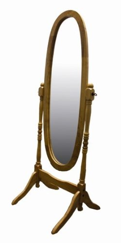 Cheval Floor Mirror With Oak Finish. These Floor Mirrors Makes An Amazing Décor To Your Home. There Will Be A Lot To Like With This Cheval Mirror In Your Home. Impress Friends & Family With This Elegant Full Length Mirror. front-933699