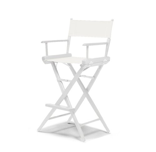 Telescope Casual World Famous Bar Height Director Chair, White with White Frame