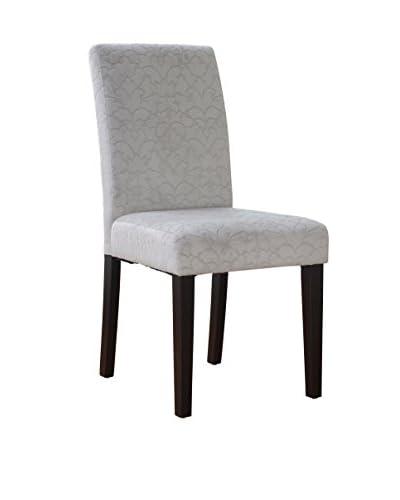 Linon Home Décor Upton Parsons Chair, Gray/Dark Espresso