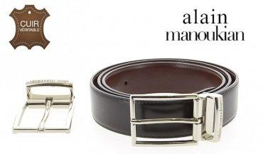 Cintura double-face pelle dal 36 al 52 Alain Manoukian
