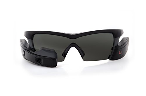 Recon Instruments Jet Smart Eyewear for Sports and Fitness, Black