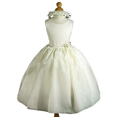 A8002d New Ivory Flower Girl Pageant Easter Holiday Party Dress Size 2 to 12 (6, Ivory - Your order will be shipped out on the same or next business day. Orders arrive in 3 to 5 business days.)