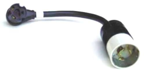 GenTran 10/3 50 Amp 125 Volt Male To 30 Amp 125 Volt Female RV Generator Adapter RJB6361RV