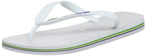 Havaianas Brasil Logo Flip Flops - White [4110850.0001.434] (9/10 UK)
