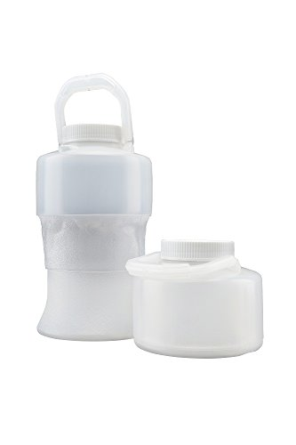 Flex Collect 201430 Collapsible Lpde (Low Density Polyethylene) Container With Handle, White Screw Cap, 2000 Ml Capacity, Natural (Pack Of 12) front-944118