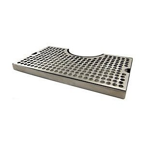 "12"" Surface Mount Kegerator Beer Drip Tray Stainless Steel Tower Cut Out No Drain"