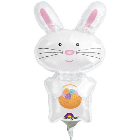 White Bunny Mini Shape Foil Balloon