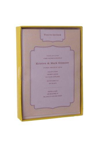 "Impressit 25 Baby Yellow Printable Shower Invitations/Birth Announcements 5"" X 7"""