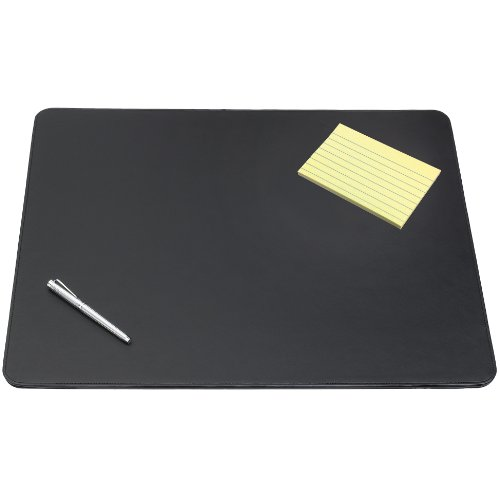 "Artistic 24"" X 38"" Sagamore Executive Designer Desk Pad, Black"