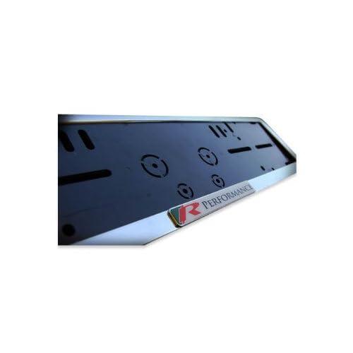 R Performance Chrome European Number plate frame set surround 52cm x ...
