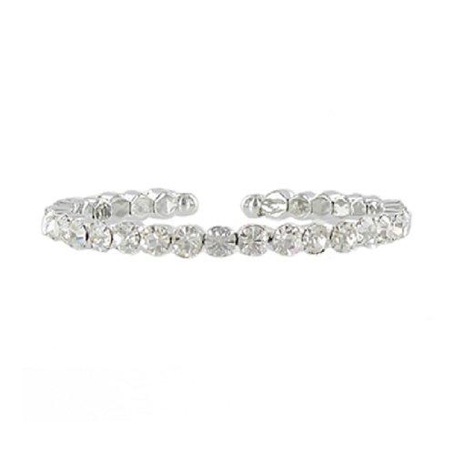 JOA One Line Crystal Stone Cuff Bracelet #041372