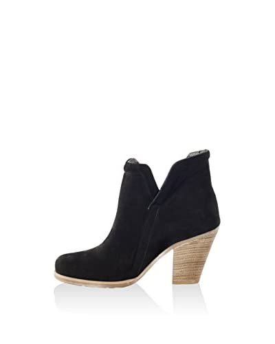 L37 Zapatos abotinados Negro