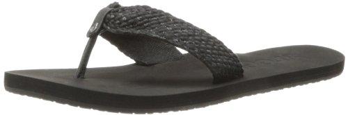 Reef Women's Mallory Scrunch Flip Flop,Black/Metallic,9 M US Reef Woven Sandals