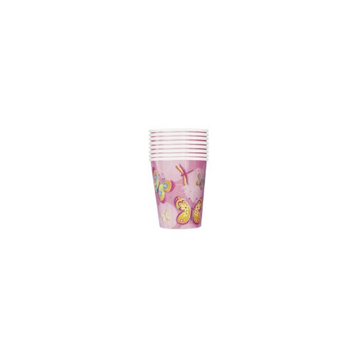 Butterflies and Dragonflies 9 Ounce Paper Cups (8 count)
