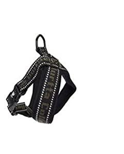 Hurtta Pet Collection 18-Inch Padded Y-Harness, Black