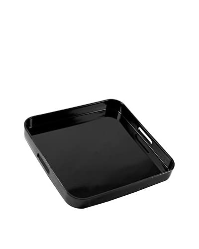 10 Strawberry Street Lacquer Square Serving Tray, Black