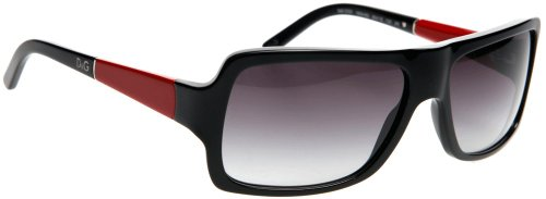 D&g By Dolce & Gabbana Unisex 3050 Black / Red Frame/Grey Gradient Lens Plastic Sunglasses