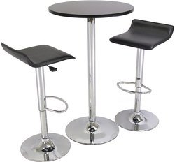 """Winsome® 3 - Pc. 24"""" Pub Table Set with Chrome Accents"""