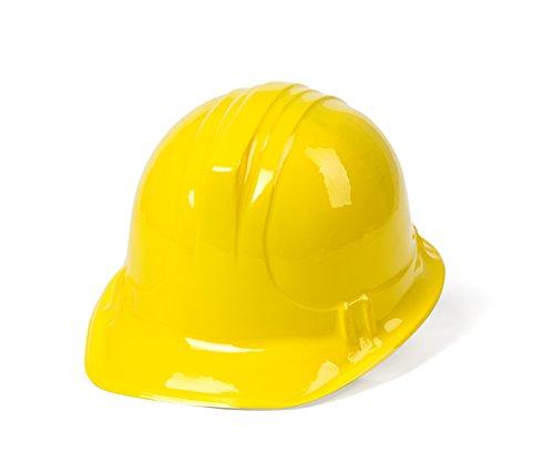 Dazzling Toys Soft Plastic Construction Helmets Hat - 12 Hats Per Order