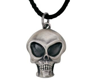 Alien Skull Pendant - Collectible Medallion Necklace Accessory Jewelry
