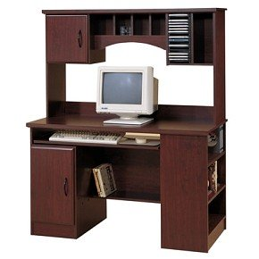 Buy Low Price Comfortable Traditional Cherry Computer Desk and Hutch Set (B000Z9Z6J6)