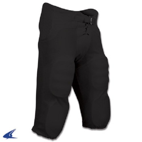 Champro Adult Integrated Football Pants Black, Black, 2XL  (Mens Football Pants With Pads compare prices)