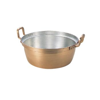 段付鍋 銅製 60cm