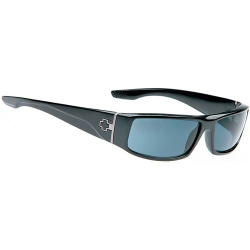 Spy Cooper Sunglasses - Spy Optic Steady Series Polarized Racewear Eyewear - Color: Black Gloss/Grey, Size: One Size Fits All