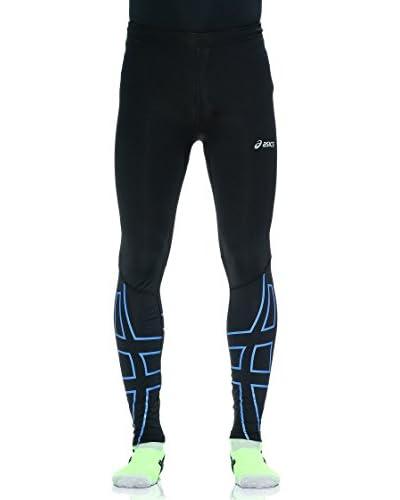 Asics Pantalón Running Akashi Tight Negro / Azul