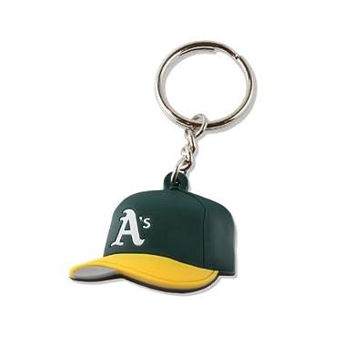 MLB Oakland Athletics Soft Rubber Team Cap Key Ring