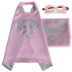 Superwoman Superhero Cape + Mask Children Halloween Costume ()