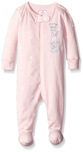 The Children's Place Baby Mommy Bunny Snuggle Sleep Stretchie, Shell Pink, 12-18 Months