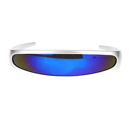 Revo Color Mirror Lens Monolens Cyclops Robotic Futuristic Sunglasses
