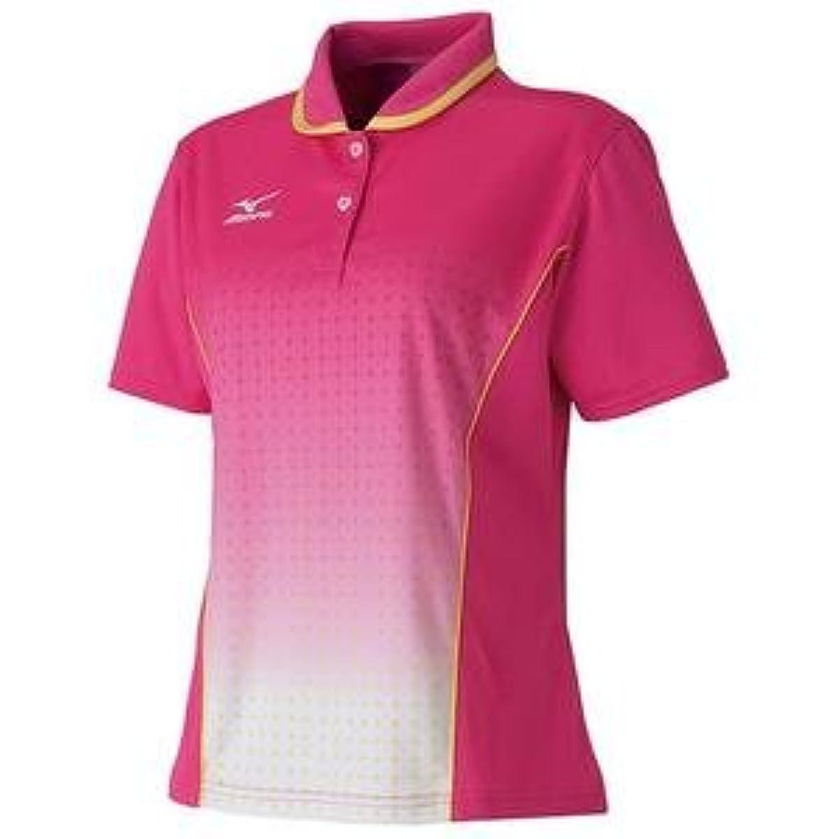 [해외] MIZUNO 게임 셔츠(탁구/레이디스)(핑크) 주문 상품 사이즈:XO-