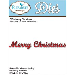Elizabeth Craft Designs Metal Die, Merry Christmas