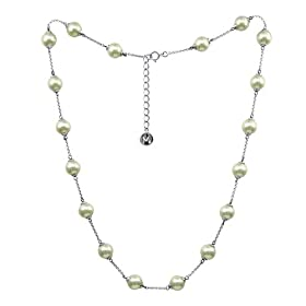 Majorica Jewelry 17&quot; Pearl and Silver Chain Necklace