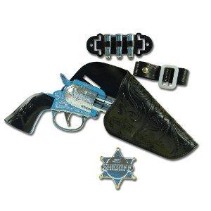 Wilder Westen Cowboy-Set Spielzeugpistole und Halfter für Kinder